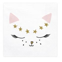 20 serviettes kitty