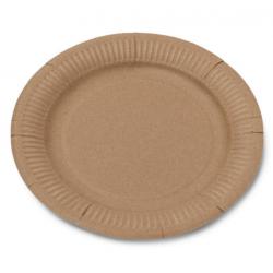 12 assiettes en carton kraft