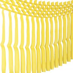 1 guirlande de franges jaune 3mx70cm