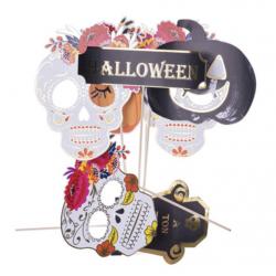 Kit photobooth halloween calavera 7 PCS