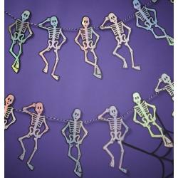 1 guirlande skelette holographique