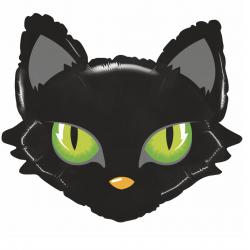 1 ballon tête de chat noir