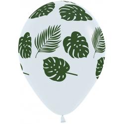 1 ballon imprimés Feuilles