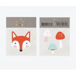 1 tattoo renard et champignon