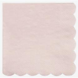 20 petites serviettes - Rose clair