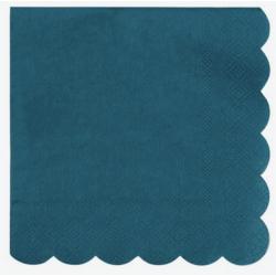 20  petites serviettes - Turquoise