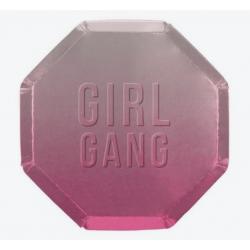 8 assiettes Girl Gang