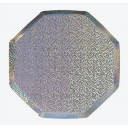 8  assiettes holographique
