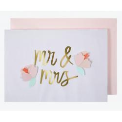 1 carte Mr & Mrs Fleur