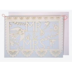 1 carte Mr and Mrs guirlande