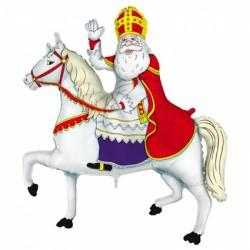 1 ballon Saint-Nicolas et son cheval (100cm)