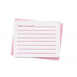 1 carte I love u because