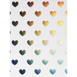1 carte coeur blanche