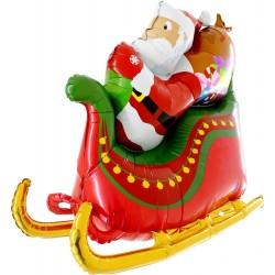 Ballon traineau du Père Noël