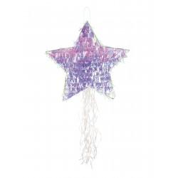 1 pinata étoile irisée