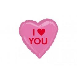 Ballon aluminium mylar- Coeur I love you