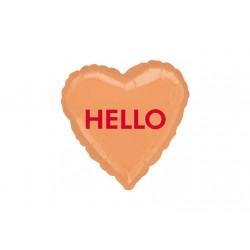 Ballon aluminium mylar - Coeur Hello