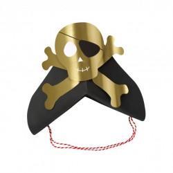 8 chapeaux de fête pirate