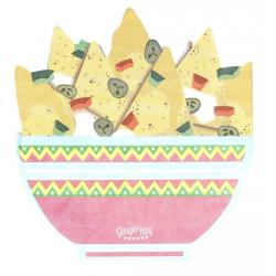 16 Serviettes nachos