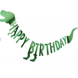 Guirlande Happy Birthday dinosaure