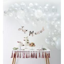 Kit arche à ballons - blanc