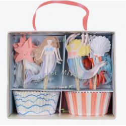 Kit 24 cupcakes - Sirène