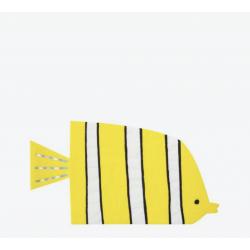 16 serviettes poissons