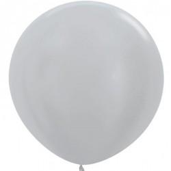 Ballon géant - Argent satin