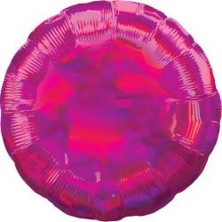 1 ballon mylar fuchsia holographique