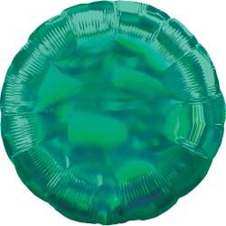 Ballon aluminium - Rond  vert holographique