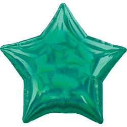 Ballon aluminium - Etoile Vert holographique