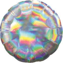 1 ballon mylar argent holographique