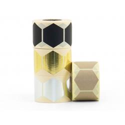 10 stickers - Hexagone 43mm - or métallique