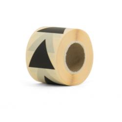 10 stickers - pyramide 43mm - noir