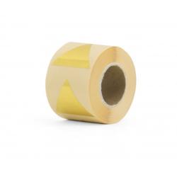 10 stickers - pyramide 43mm - or métallique