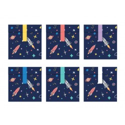 6 petits sachets pour anniversaire-Espace