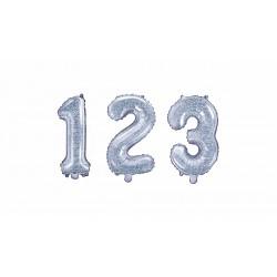 Petit ballon mylar chiffre-Holographique