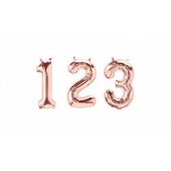 Petit ballon mylar chiffre-Rosé