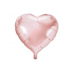 1 ballon mylar coeur 61cm - Or rose
