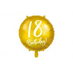 1 ballon mylar 18th birthday 45 cm - or