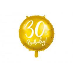 1 ballon mylar 30th birthday 45 cm - or