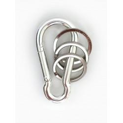 Porte-clés mousqueton - argent