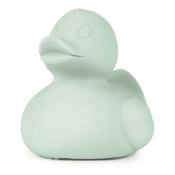 1 jouet de bain ou à mordiller-Petit canard menthe en latex d'hévéa