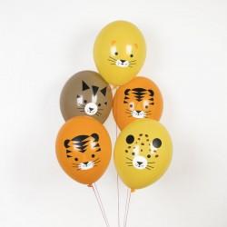 5 ballons tatoués - mini félins