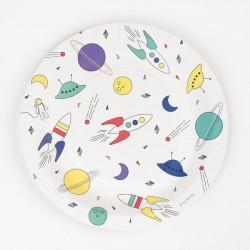 8 assiettes - cosmonaute