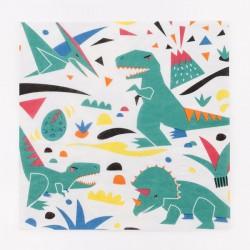 20 serviettes en papier - dinosaure