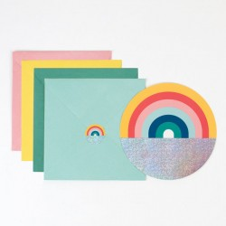 8 invitations - arc-en-ciel
