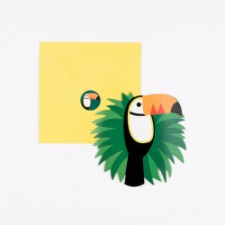 8 invitatons - toucan
