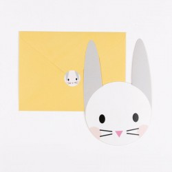 8 invitations - mini lapin