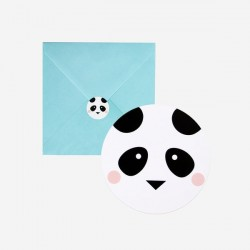 8 invitatons - mini panda